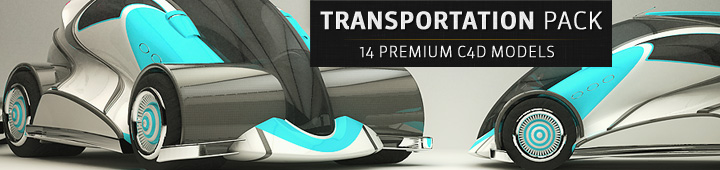 Transportation Pack 3D Models Cinema4D The Pixel Lab