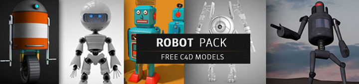 Free-Cinema4D-Models-Robot-Pack