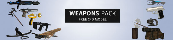 Free-Cinema4D-C4D-3D-Models-Weapons