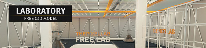 Free Laboratory 3D Scene Cinema4D C4D Model