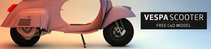 Free Cinema4D Model Vespa Scooter