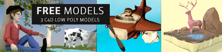 Free-C4D-Model-Pack-Low-Poly-Freebies