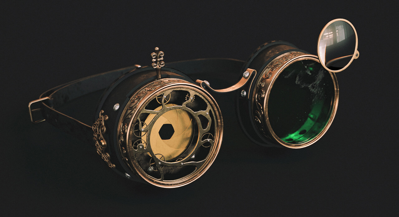 Free-Cinema4D-3D-Model-Steampunk-Goggles
