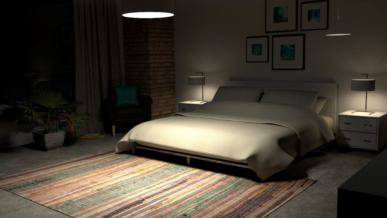 Bedroom Ideas How To Decorate A Large Bedroom Photos: Free Cinema 4D 3D Model: Interior Bedroom Scene For Arnold