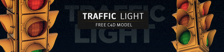 Free-C4D-Model-Traffic-Light