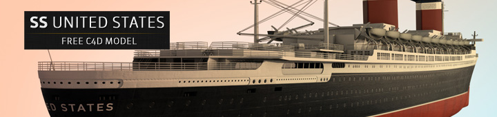 Free-C4D-Model-SS-United-States-Ship-Boat