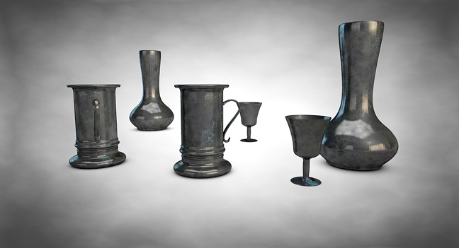 Free-Cinema4D-Tin-Material-Shader-3D-Models-Tableware