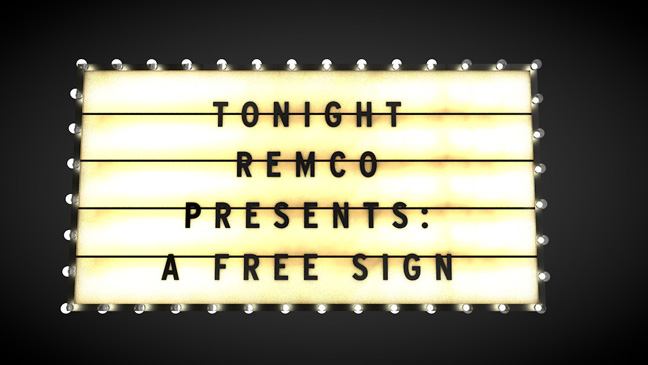 Free C4D Model: Lit Marquee Sign | The Pixel Lab