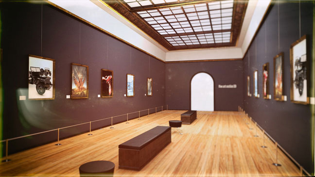 Free C4D 3D Scene: Art Museum Interior - The Pixel Lab