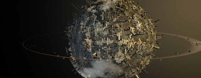 Polluted-Globe-C4D-3D-Model