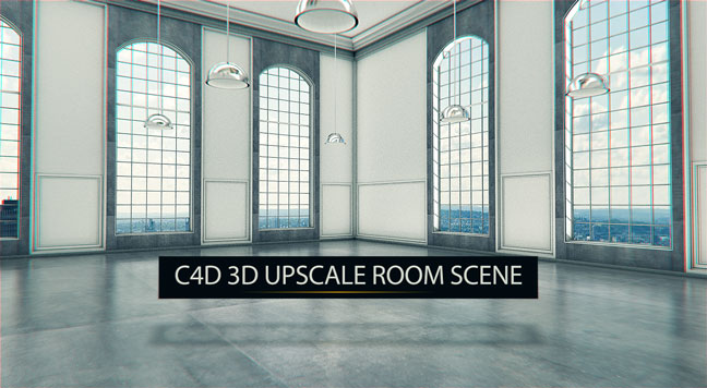 free c4d 3d model upscale room interior scene the pixel lab. Black Bedroom Furniture Sets. Home Design Ideas