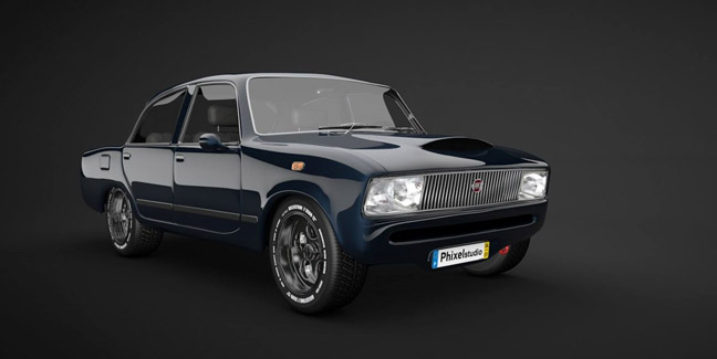 Free C4d 3d Model Classic Car The Pixel Lab
