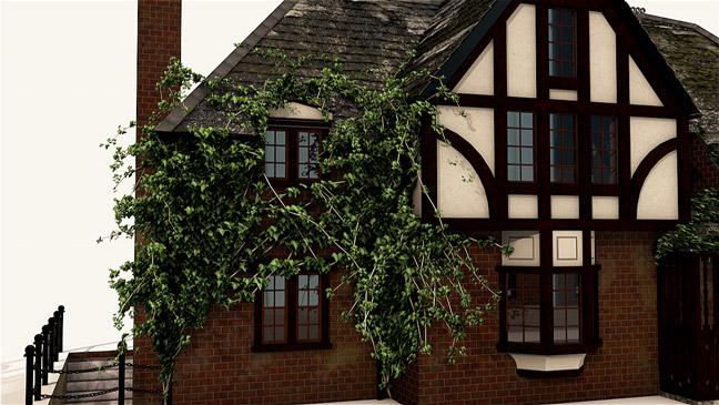 Free-C4D-3D-Model-Spach-Alspaugh-Cottage-House-2