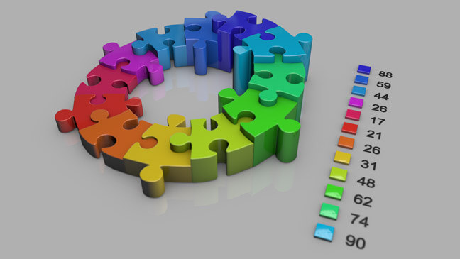 Puzzle-Graph-Version-2-Graph-C4D-3D-Model-Infographics-Graph-Bars-Chart-Pack