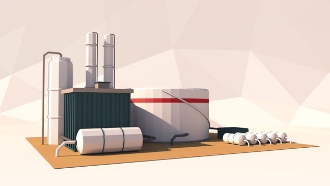 maxon-cinema4d-c4d-3d-model-low-poly-refinery