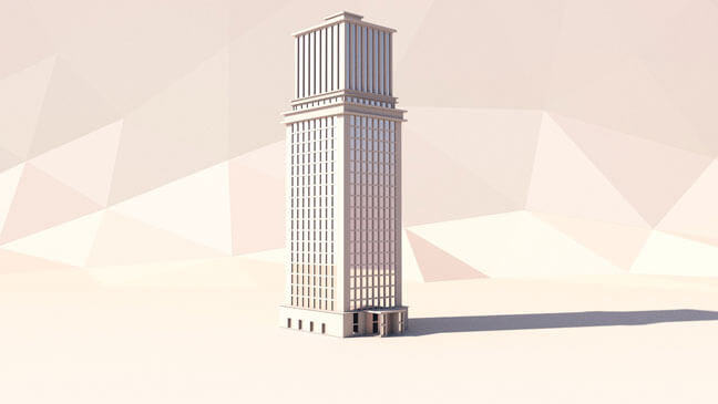 maxon-cinema4d-c4d-3d-model-low-poly-skyscraper