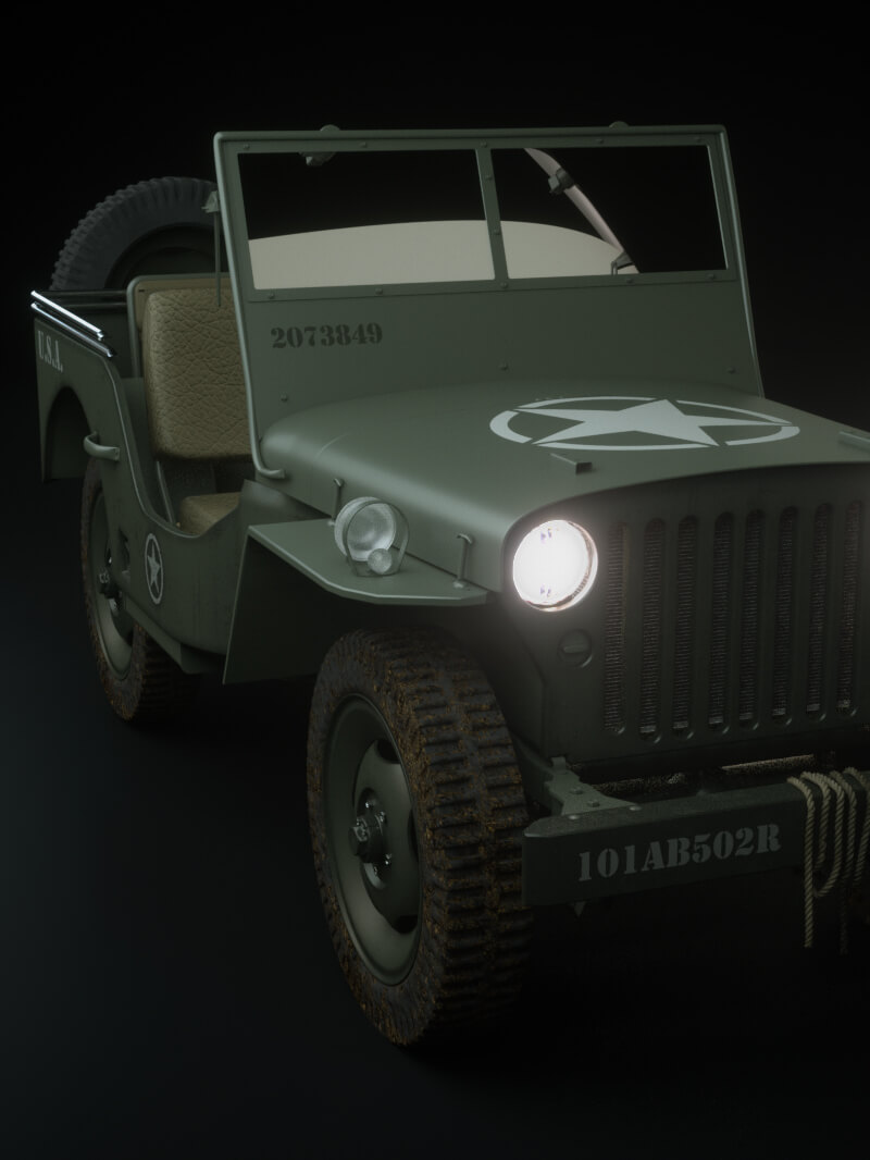 Free Cinema 4D 3D Model Jeep
