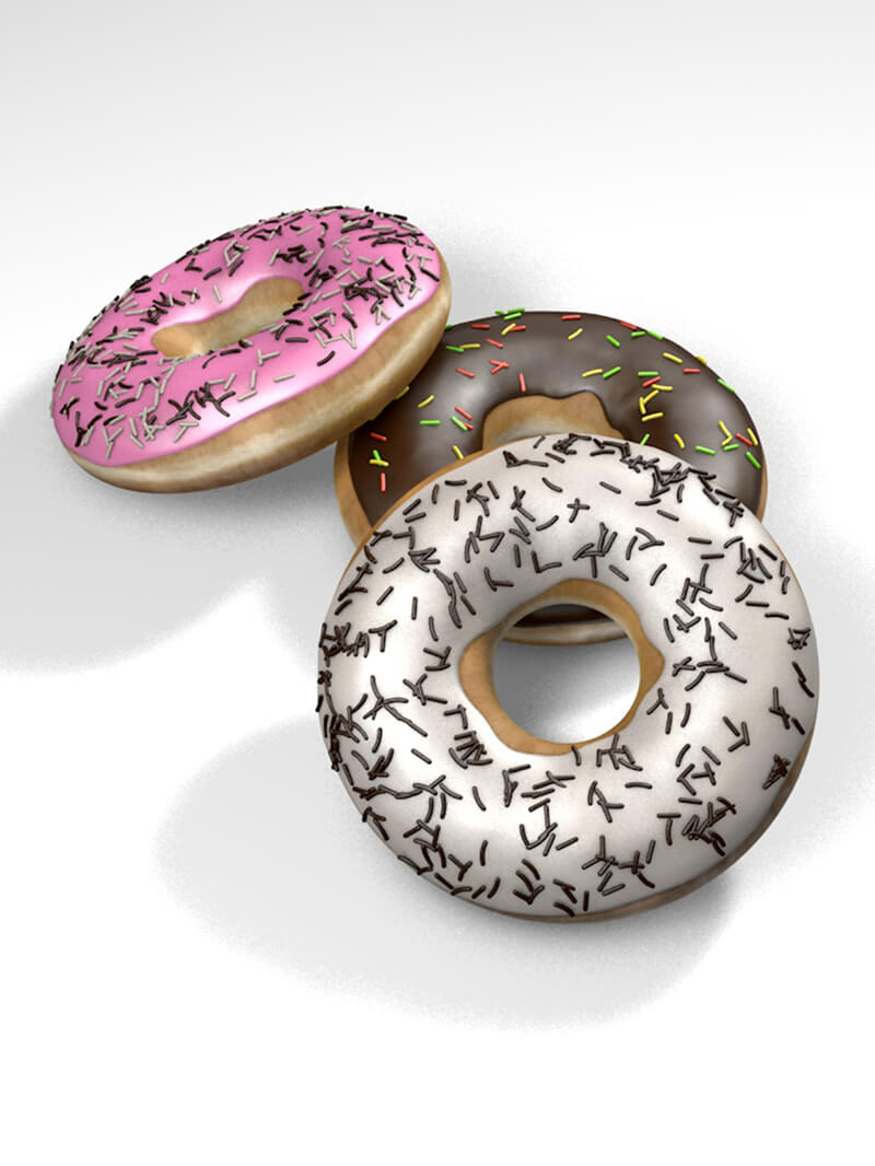 Free cinema 4d 3d model donuts