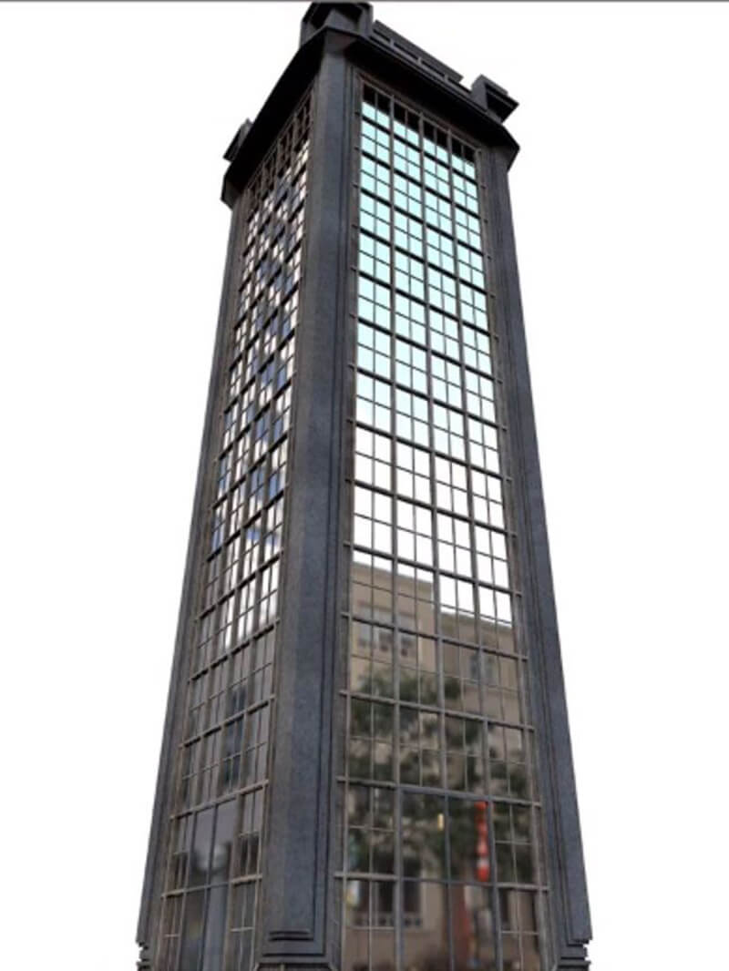 Free Cinema 4D 3D Model Skyscraper building