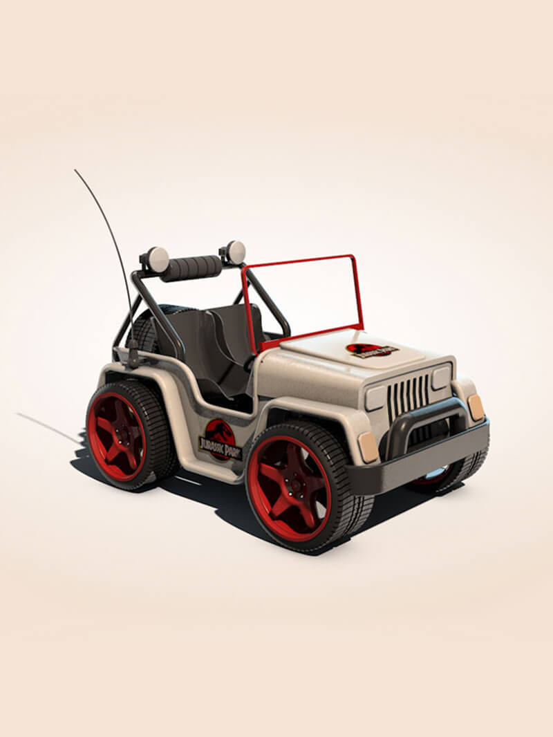 Free Cinema 4D 3D Model Go Cart