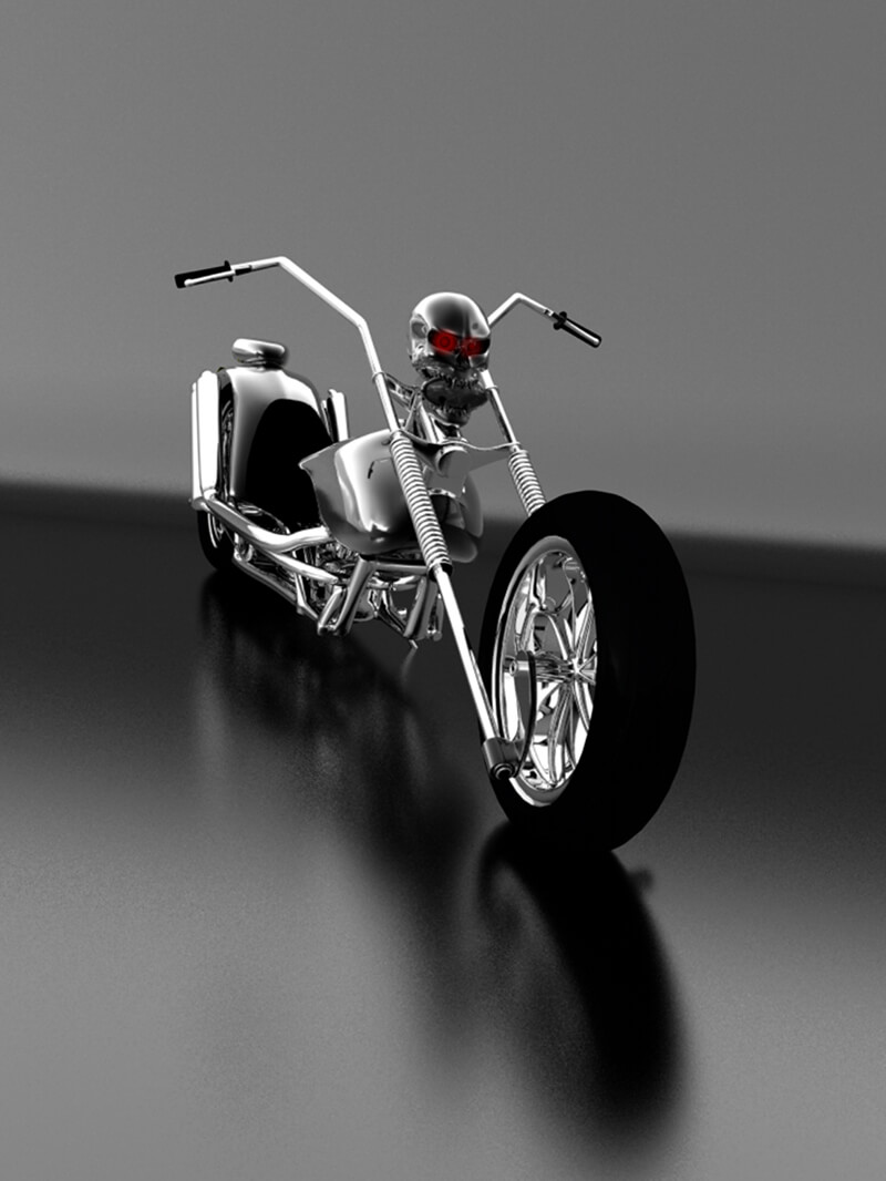 Free Cinema 4D 3D Model Chopper Motorcycle