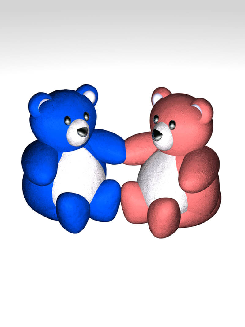 Free Cinema 4D 3D Model Teddy Bears