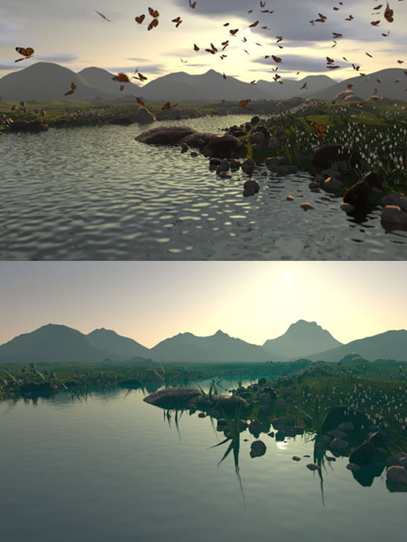 Free Cinema 4D 3D Model Landscape