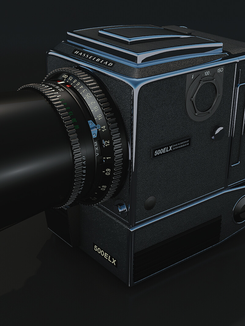 Free C4D Maxon 3D Model: Hasselblad Camera Medium Format