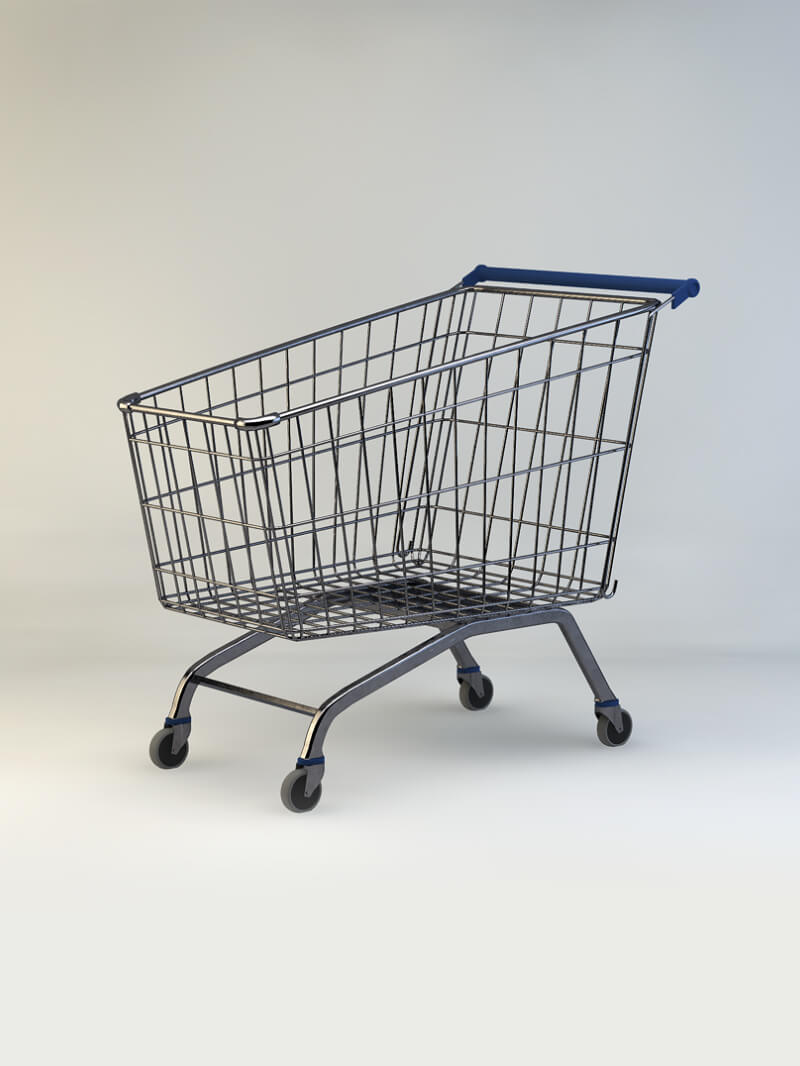 Free Cinema 4D 3D Model Shopping Cart Maxon Trolley
