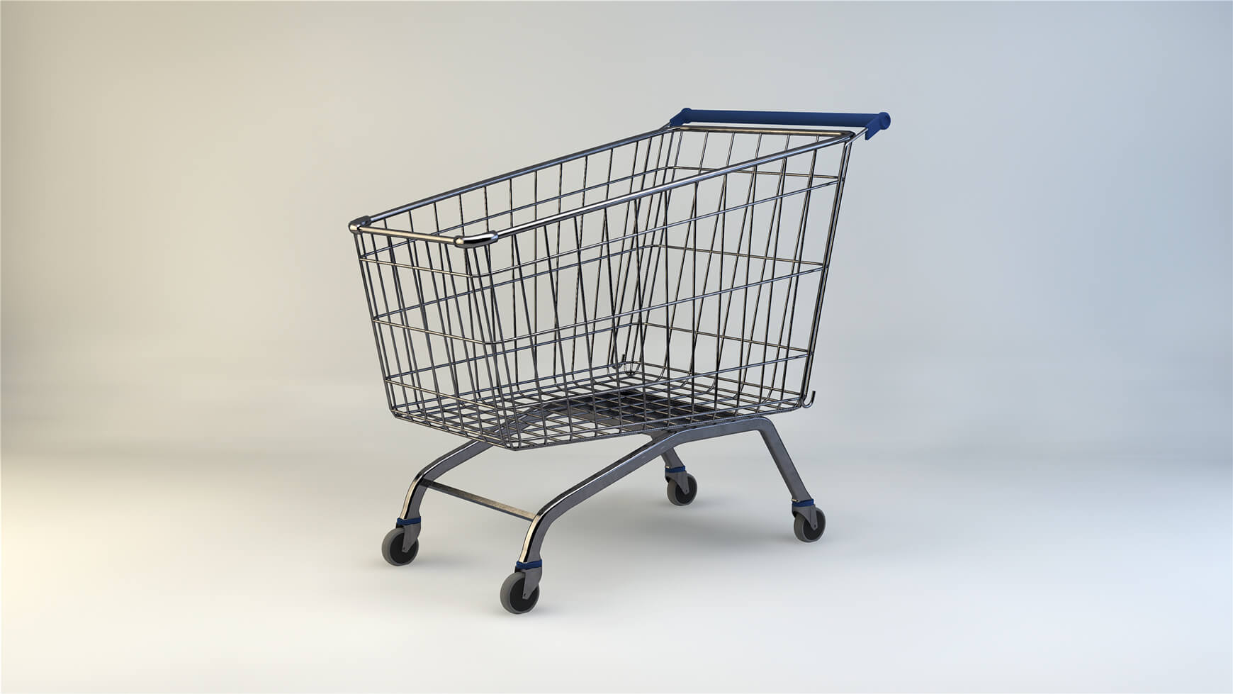 free cinema 4d 3d model shopping cart trolley the pixel lab
