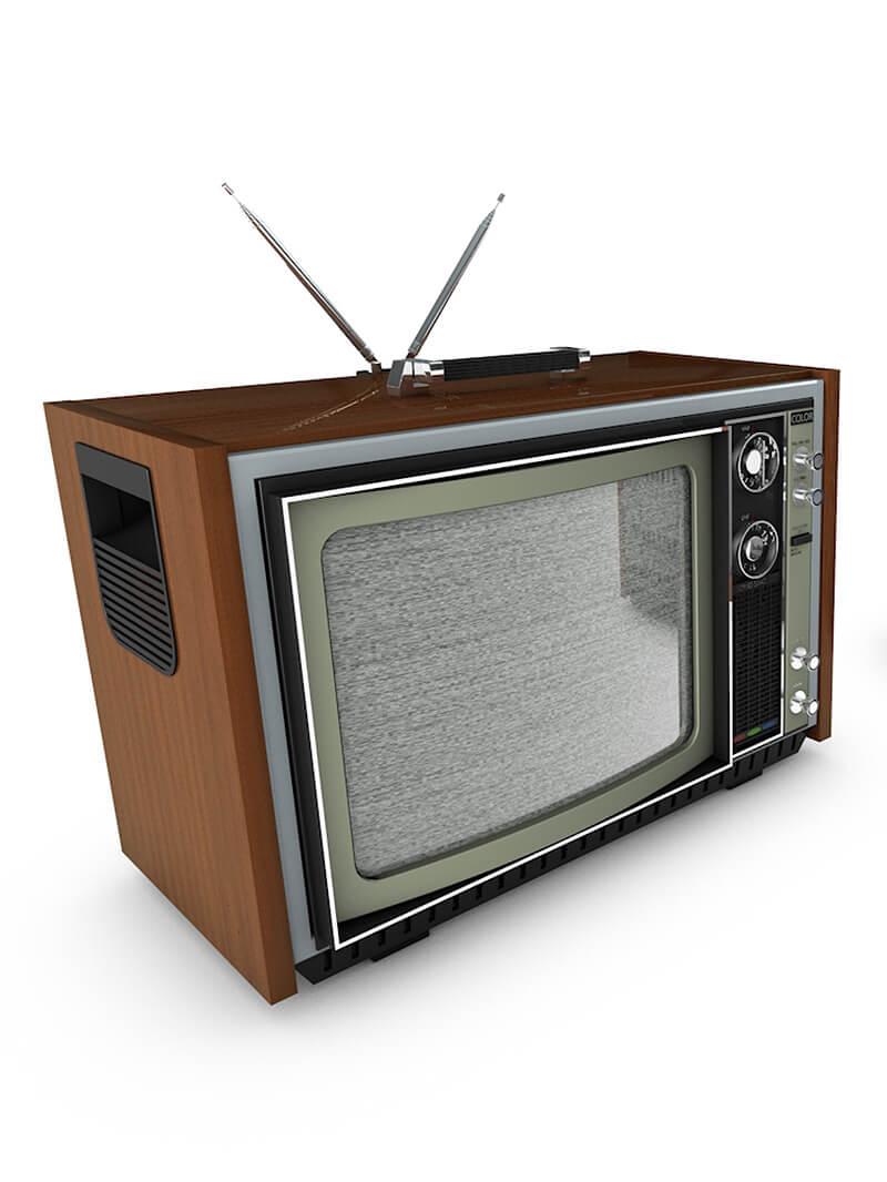 Free C4D Retro Television Model