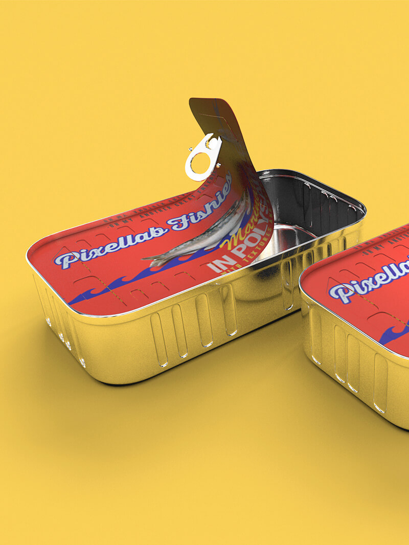 Free Cinema 4D 3D Model Sardine Tin Can