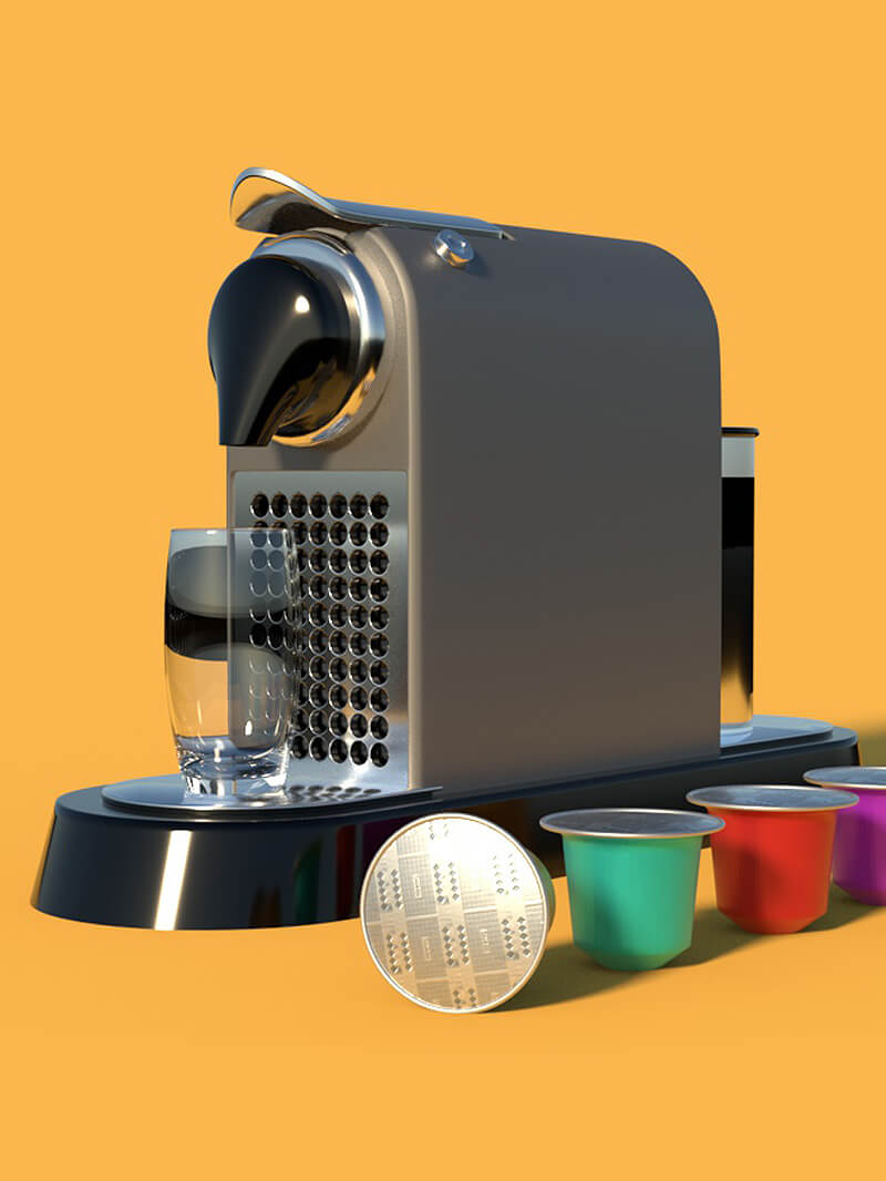 Free Cinema 4D 3D Model Espresso Coffee Machine Arnold