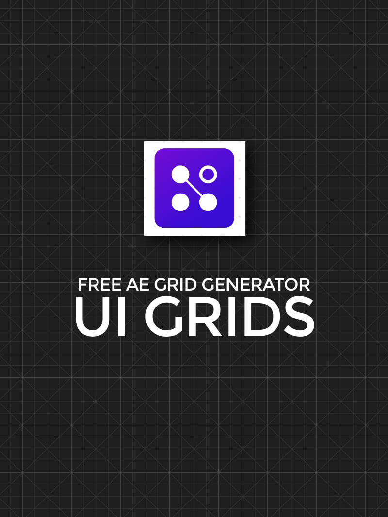 Free Adobe After Effects UI Grids Generator AE Preset Plugin