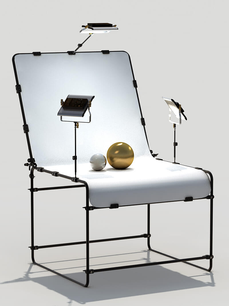 Free Cinema 4D 3D Model Still Life Studio Manfrotto
