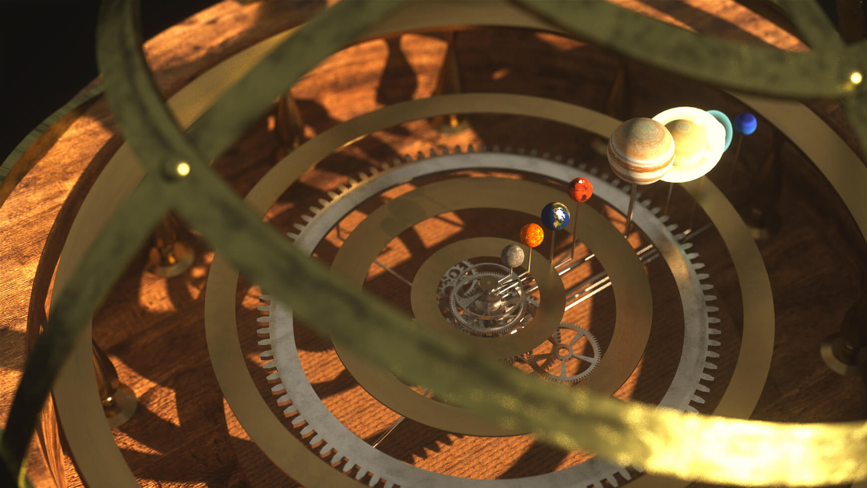 Free Cinema 4D 3D Model Orrery Mechanical Solar System