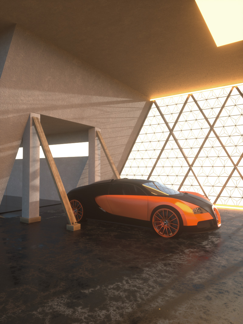 Free Cinema 4D 3D Model Car Studio Scene