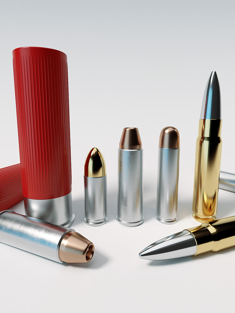 Free Cinema 4D 3D Model Gun Bullets and Shotgun Shells