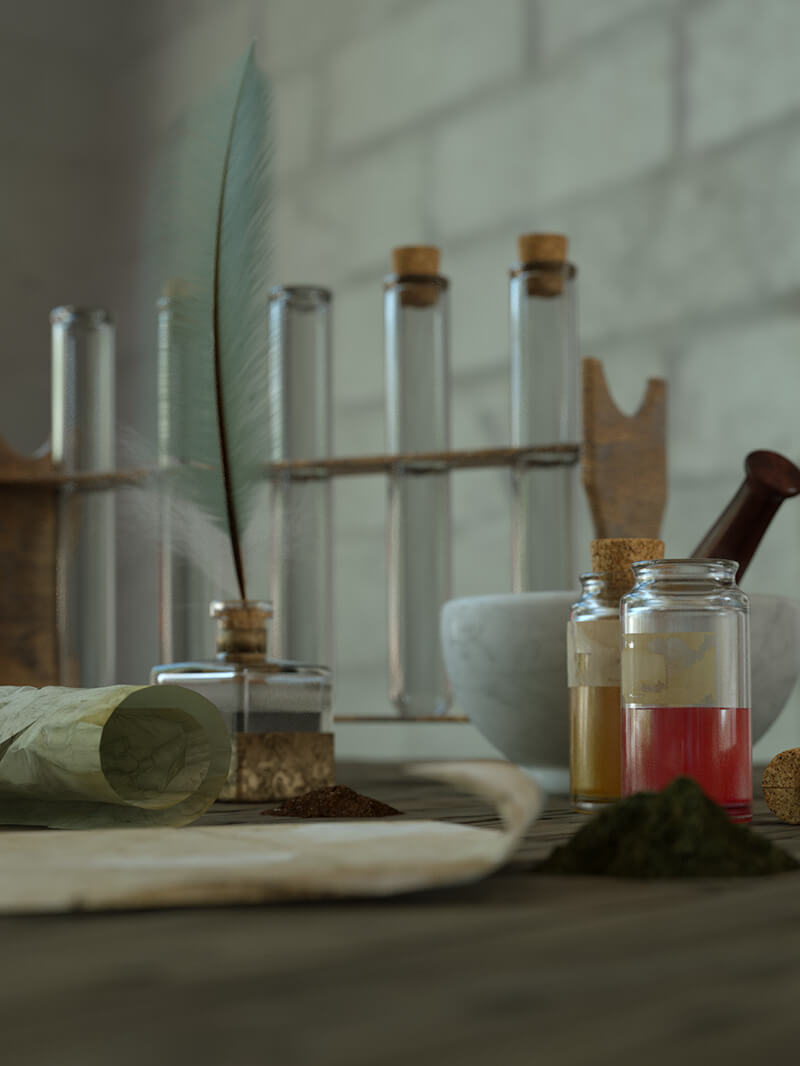 Free Cinema 4D 3D Model Still Life Laboratory