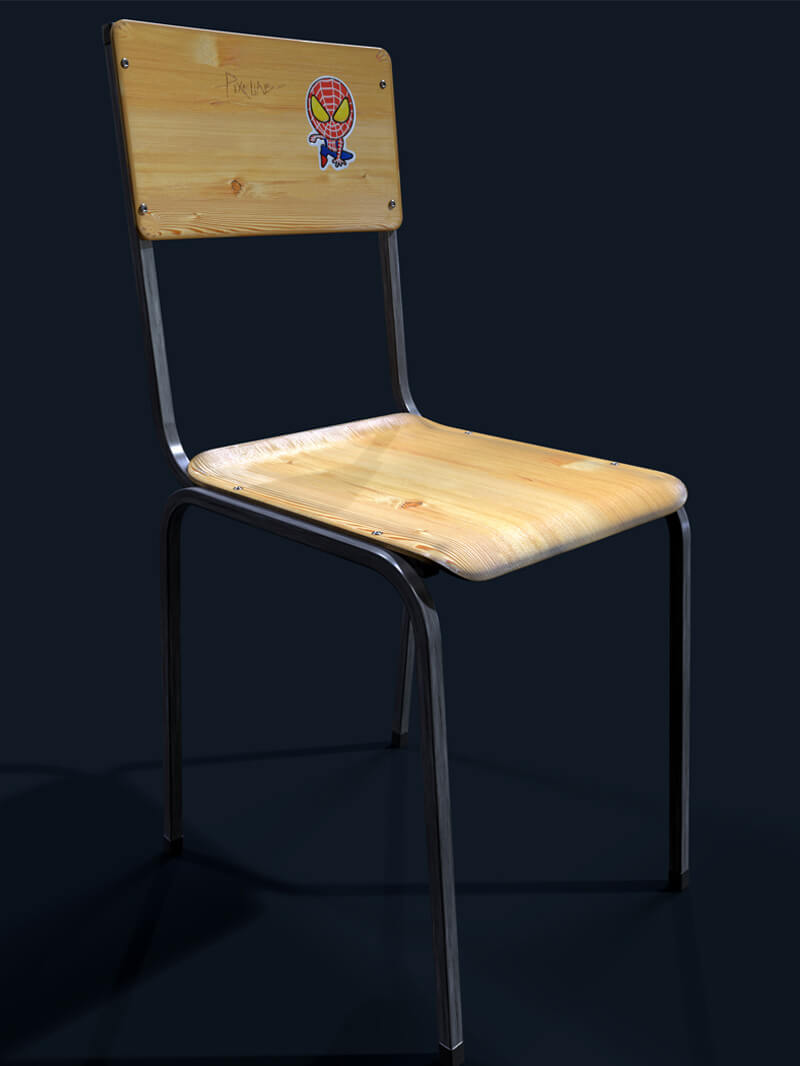 Free Cinema 4D 3D Model Chair