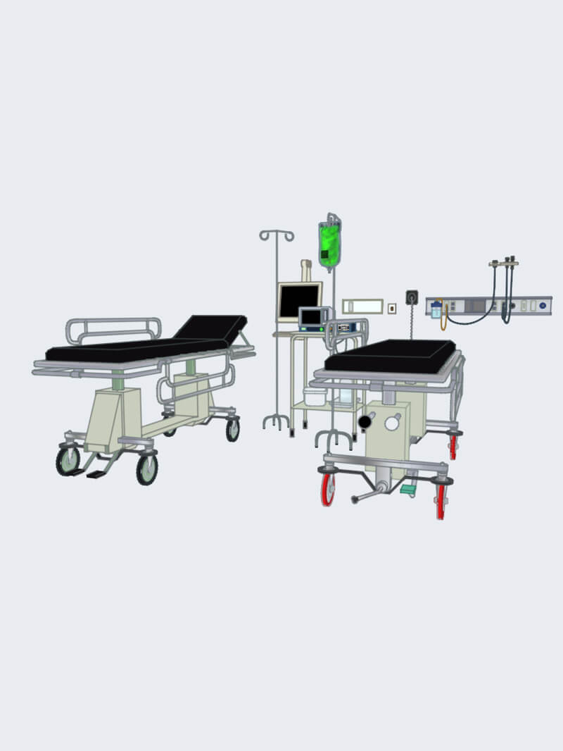 Free Cinema 4D 3D Model Medical Hospital Room Assets