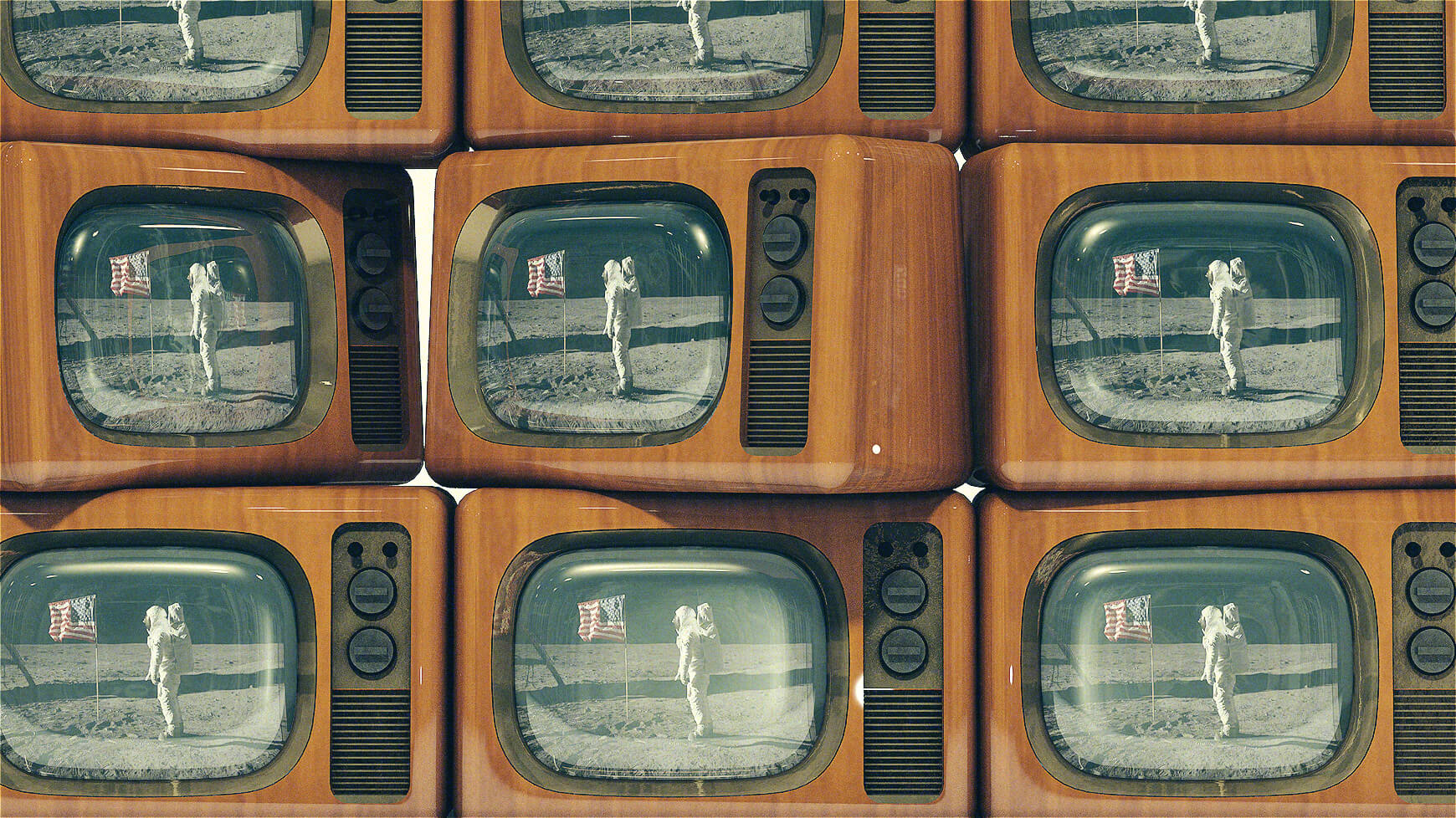Free Cinema 4D 3D Model Vintage Television Retro