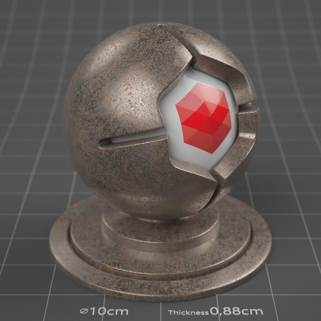 30_RS_Iron_Rusted_Moderate_4K_Redshift_Cinema_4D_Material