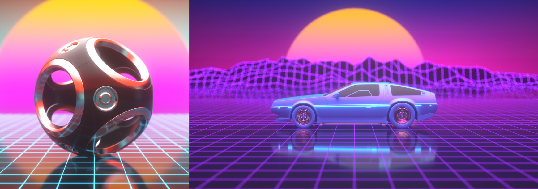Octane Lighting Essentials Volume 2 Cinema 4D Retro Glow