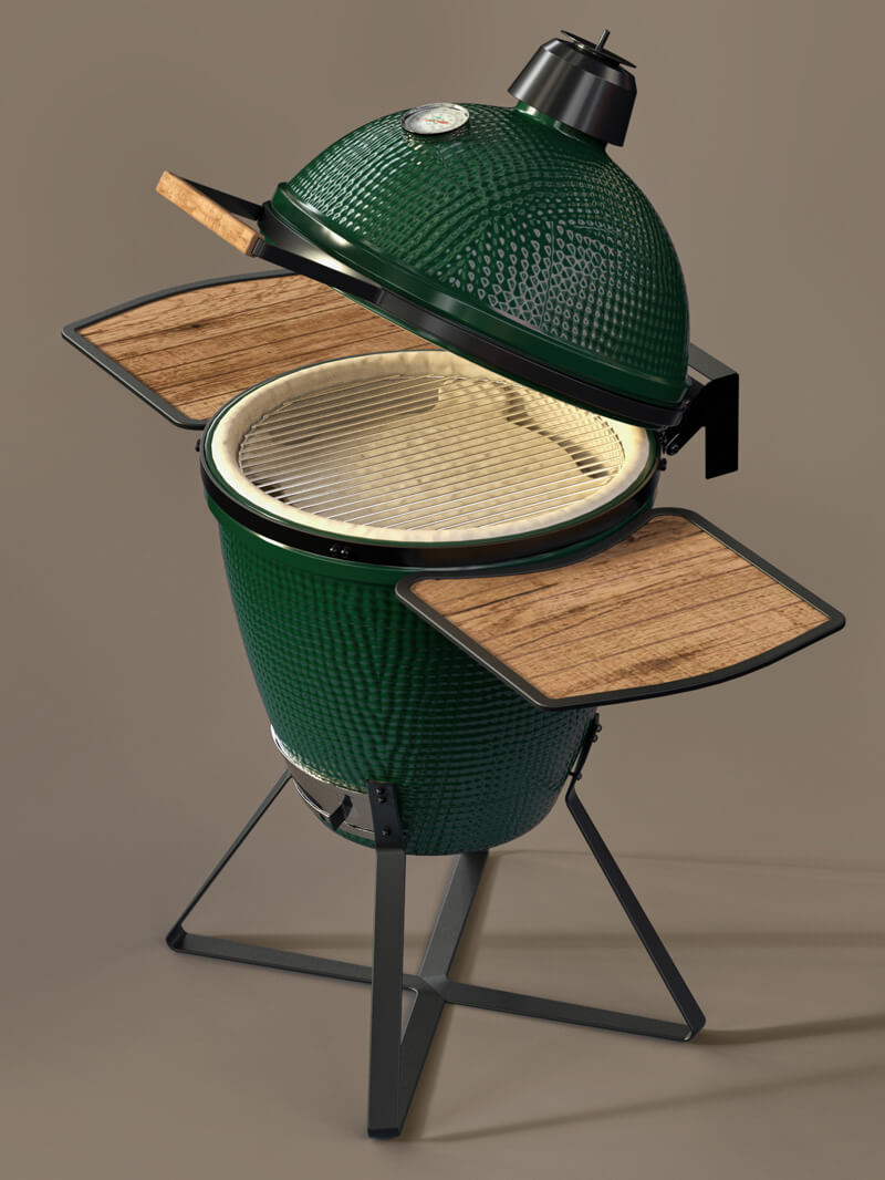 Free Cinema 4D 3D Model BBQ Grill Green Egg