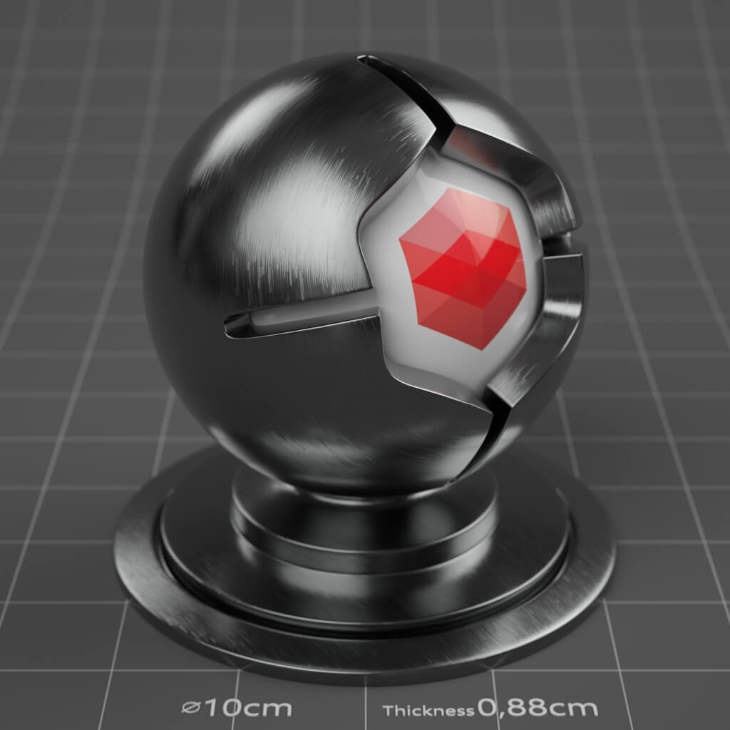 09_RS_Chrome_Brushed_4K_Redshift_Cinema_4D_Material
