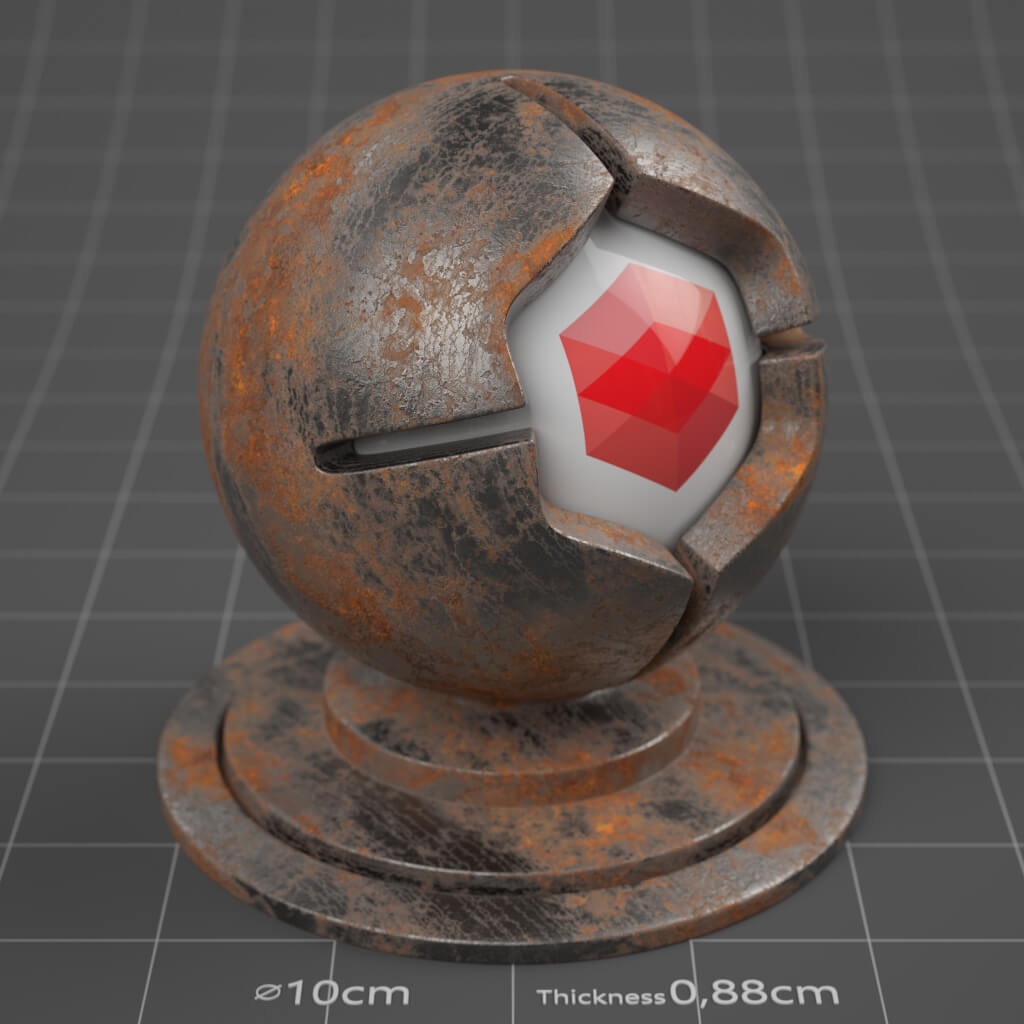 09_RS_Steel_Rusted_Moderate_4K_Redshift_Cinema_4D_Material