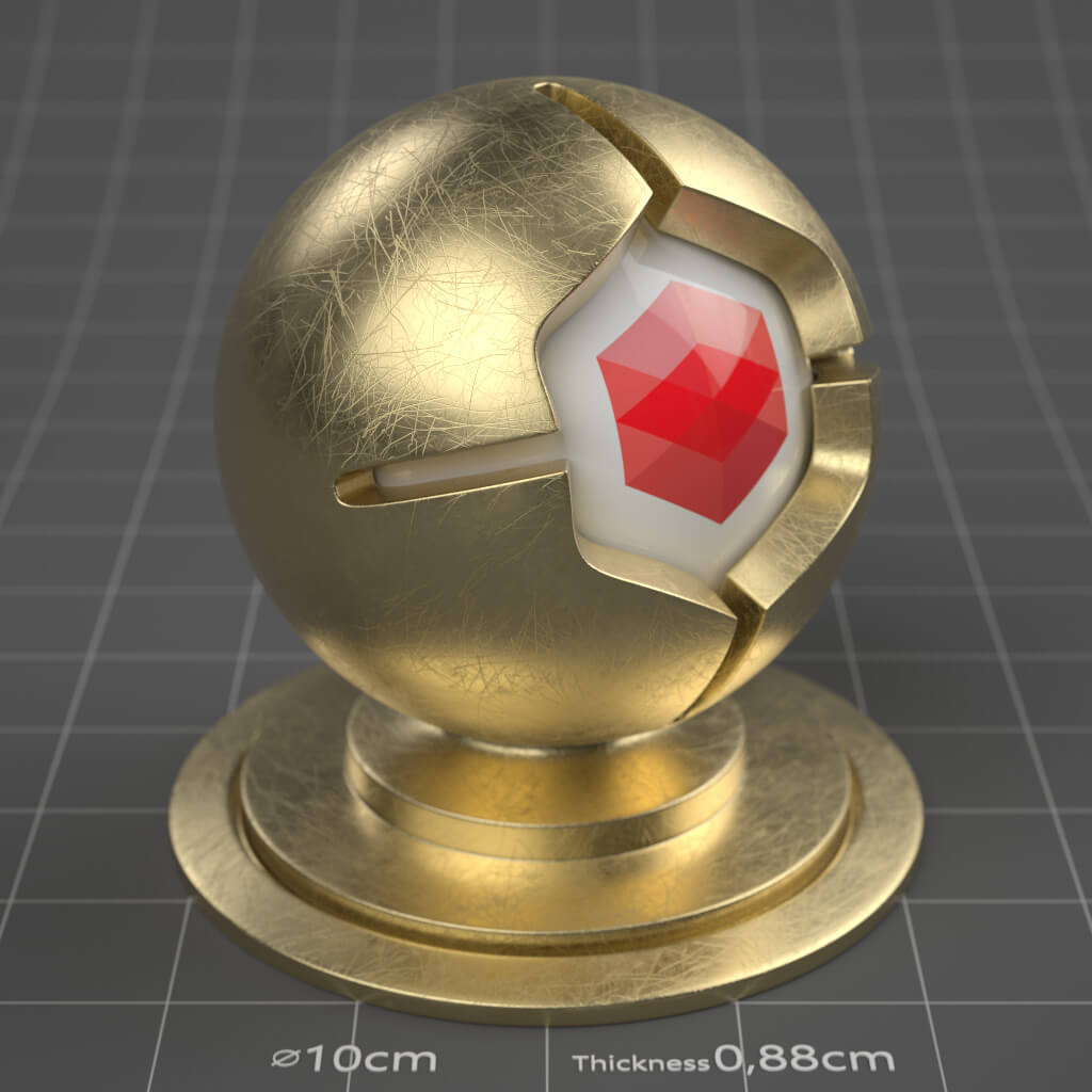 12_RS_Brass_Natural_Scratched_Heavy_4K_Redshift_Cinema_4D_Material