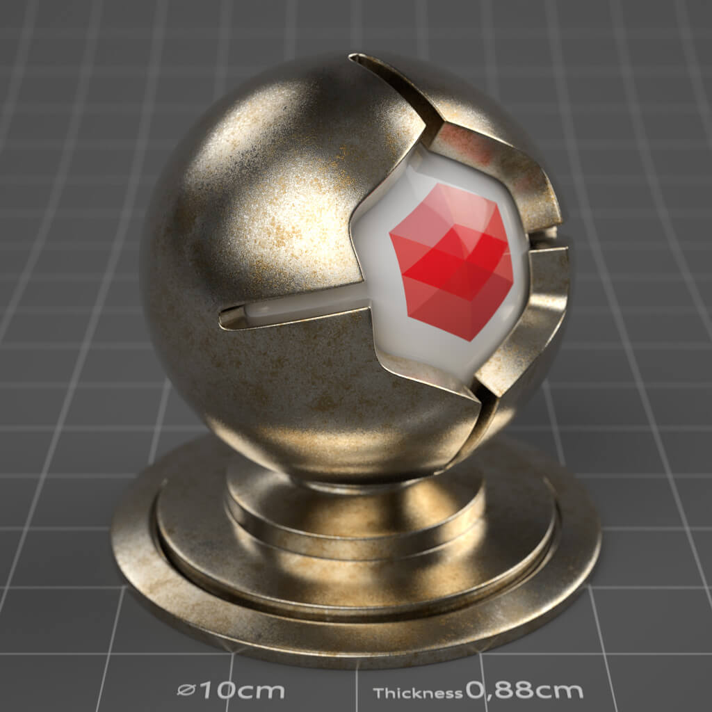 21_RS_Silver_Corroded_Moderate_4K_Redshift_Cinema_4D_Material