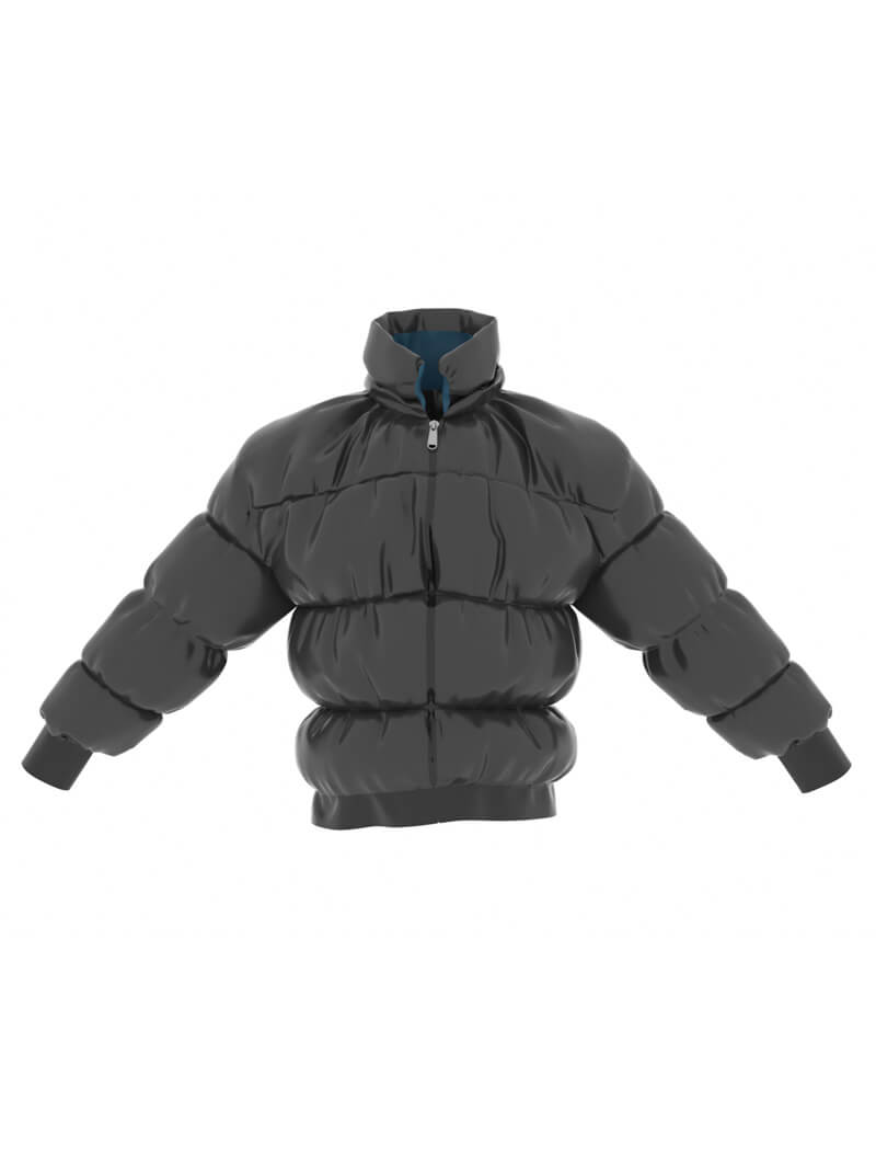 Free Cinema 4D 3D Model Puffer Down Jacket Coat